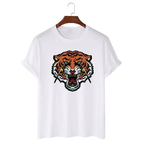 Tricou personalizat alb unisex Flash tiger