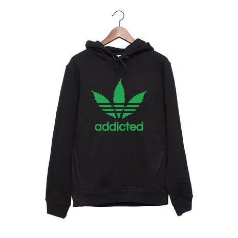 Hanorac personalizat negru unisex Addicted