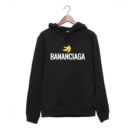 Hanorac personalizat negru unisex Bananciaga