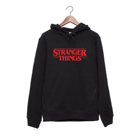 Hanorac personalizat negru unisex Stranger things