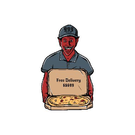 Tricou Satan pizza delivery