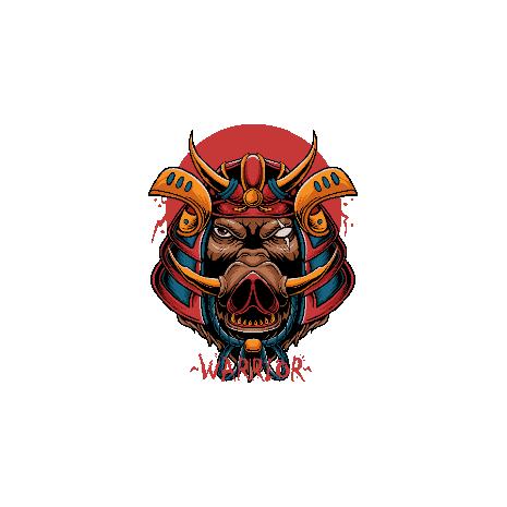 Tricou Samurai boar head