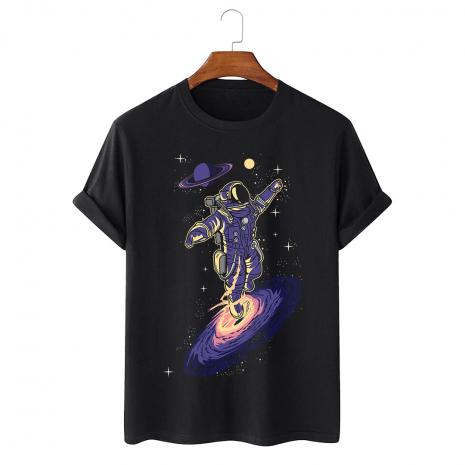 Tricou personalizat negru unisex Black hole