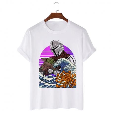 Tricou personalizat alb unisex Manda wave 2
