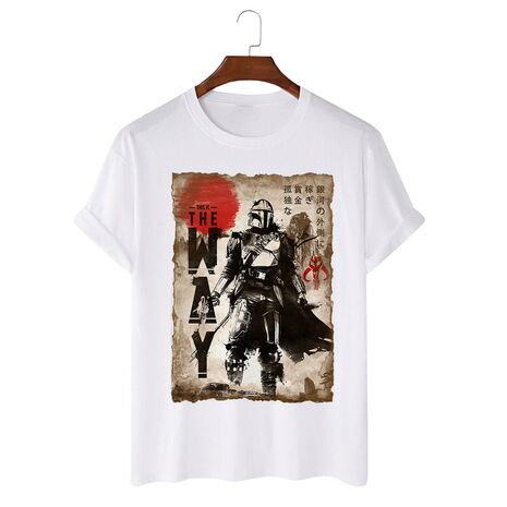 Tricou personalizat alb unisex The way Painting
