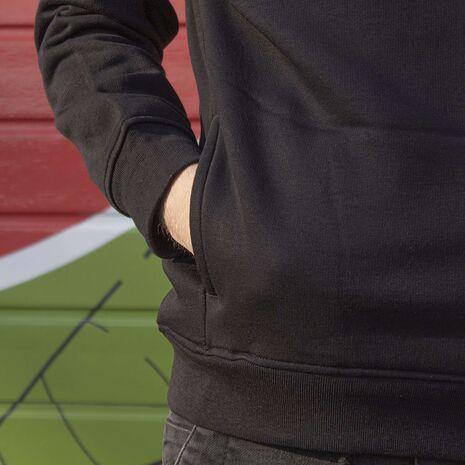 Hanorac personalizat negru unisex Manda wave