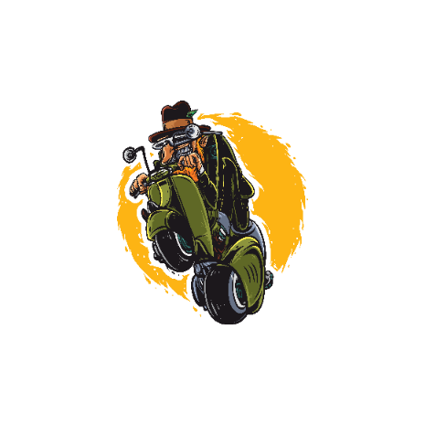 Old Man with Scooter