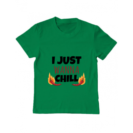 Tricou ADLER copil I just wanna chill Verde mediu