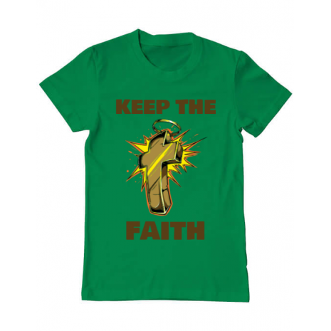 Tricou ADLER barbat Keep the Faith Verde mediu