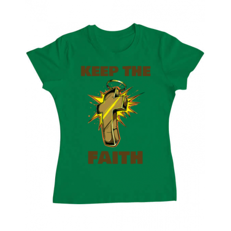 Tricou ADLER dama Keep the Faith Verde mediu