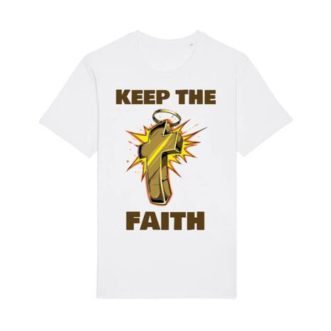 Tricou STANLEY STELLA barbat Keep the Faith Alb