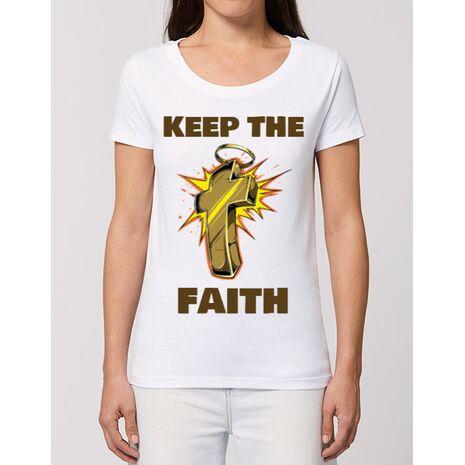 Tricou STANLEY STELLA dama Keep the Faith Alb