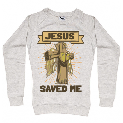 Bluza ADLER dama Jesus Saved Me Migdala melanj