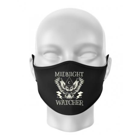 Masca personalizata reutilizabila Midnight Watcher Negru