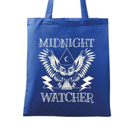 Sacosa din panza Midnight Watcher Albastru regal