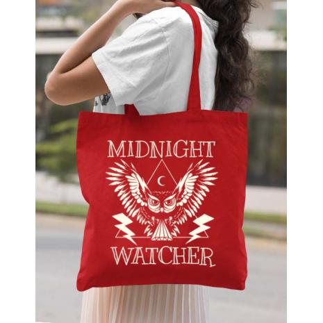 Sacosa din panza Midnight Watcher Rosu