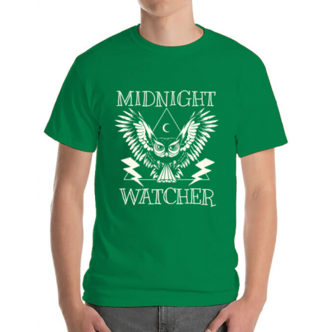 Tricou ADLER barbat Midnight Watcher Verde mediu