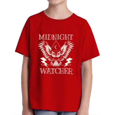 Tricou ADLER copil Midnight Watcher Rosu