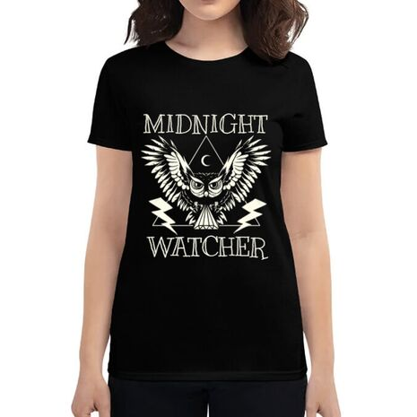 Tricou ADLER dama Midnight Watcher Negru