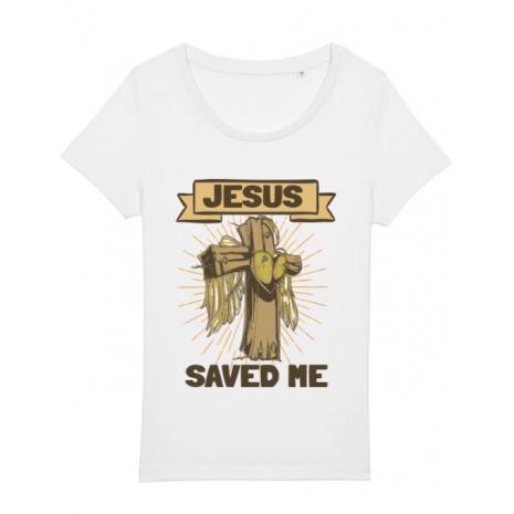 Tricou STANLEY STELLA dama Jesus Saved Me Alb