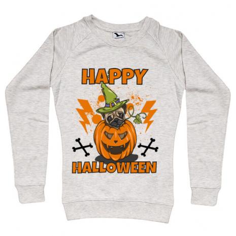 Bluza ADLER dama Halloween Pug Migdala melanj