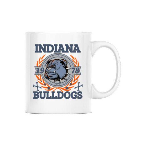 Cana personalizata Indiana Bulldogs Alb