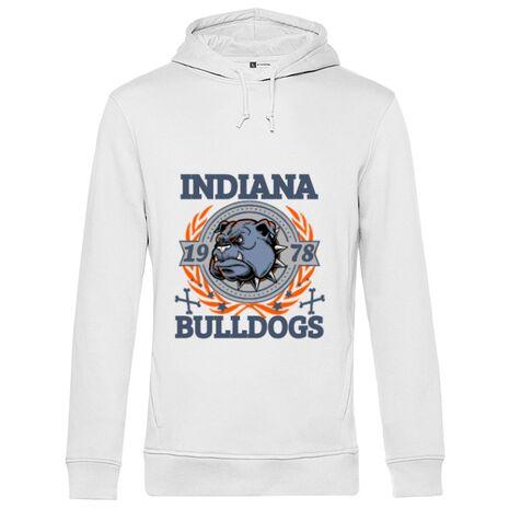Hoodie barbat cu gluga Indiana Bulldogs Alb