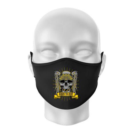 Masca personalizata reutilizabila Born to ride Negru