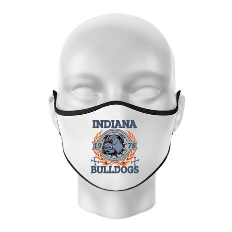 Masca personalizata reutilizabila Indiana Bulldogs Alb