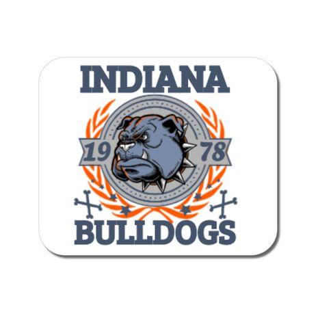 Mousepad personalizat Indiana Bulldogs Alb