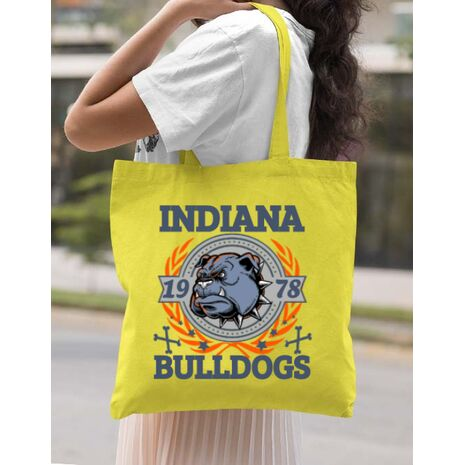 Sacosa din panza Indiana Bulldogs Galben