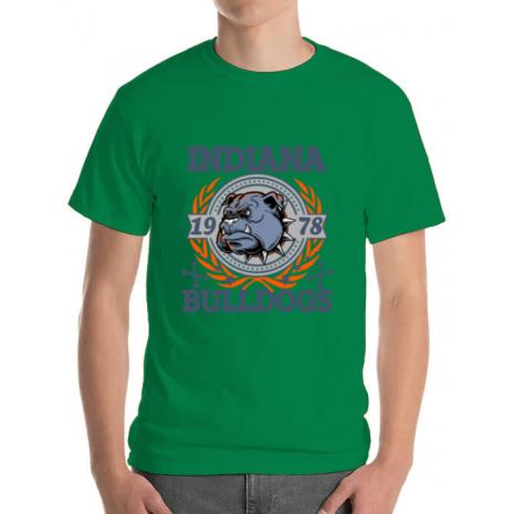 Tricou ADLER barbat Indiana Bulldogs Verde mediu