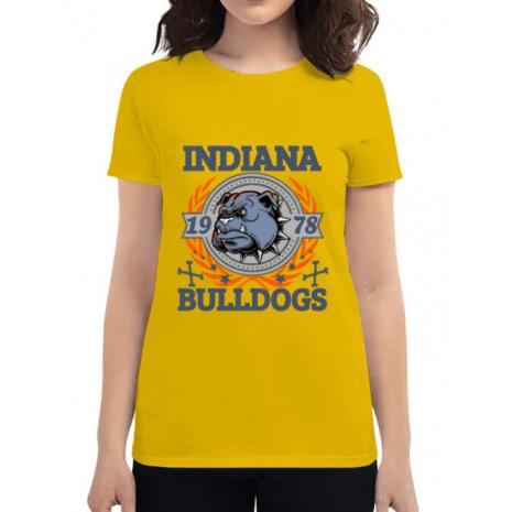 Tricou ADLER dama Indiana Bulldogs Galben