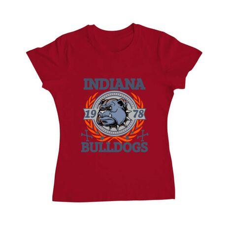 Tricou ADLER dama Indiana Bulldogs Rosu