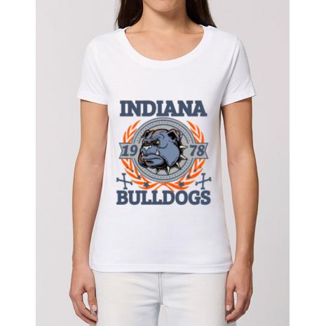 Tricou STANLEY STELLA dama Indiana Bulldogs Alb