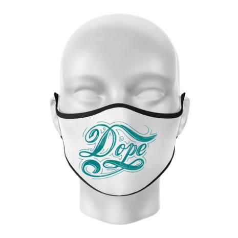 Masca personalizata reutilizabila Dope Alb