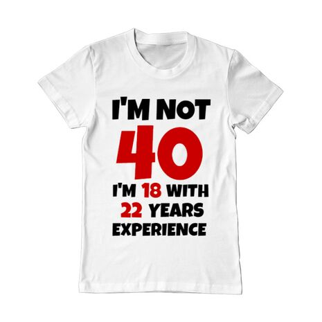 Tricou ADLER barbat 40 ani Birthday alb