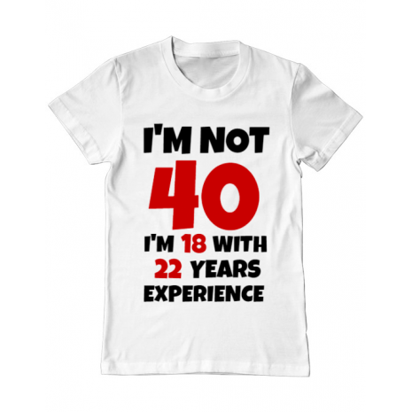 Tricou ADLER barbat 40 Birthday Alb