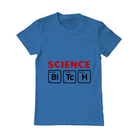 Tricou ADLER barbat Science Bitch Albastru azuriu