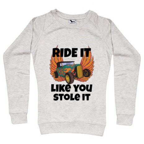 Bluza ADLER dama Ride it like you stole it Migdala melanj