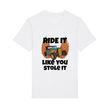 Tricou STANLEY STELLA barbat Ride it like you stole it Alb