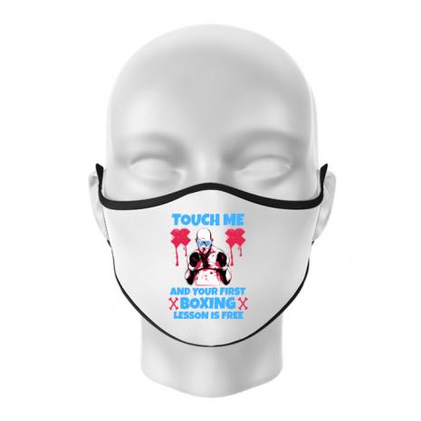 Masca personalizata reutilizabila Touch me Alb