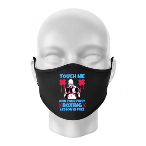 Masca personalizata reutilizabila Touch me Negru