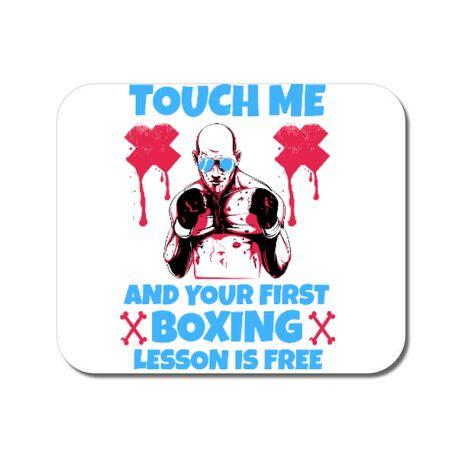 Mousepad personalizat Touch me Alb