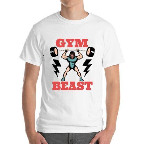 Tricou ADLER barbat Gym Beast Alb