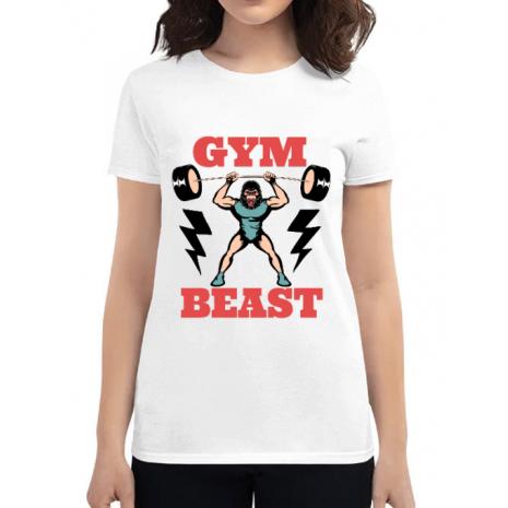Tricou ADLER dama Gym Beast Alb