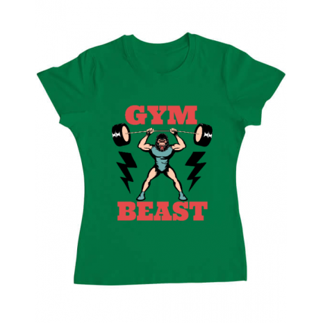 Tricou ADLER dama Gym Beast Verde mediu