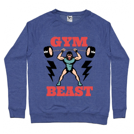 Bluza ADLER barbat Gym Beast Albastru melanj