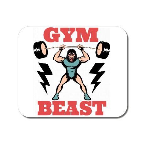 Mousepad personalizat Gym Beast Alb