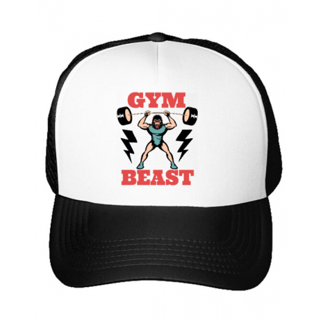 Sapca personalizata Gym Beast Alb